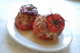 トマトのファルシのオーブン焼き