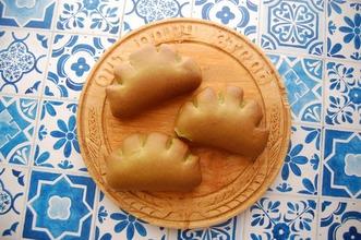 抹茶のクリームパン